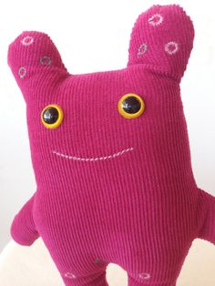 For my goddaughter Oopahtot soft toy monster toy monster softie in deep pink by oopah