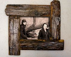 Distressed Canadian Barn Wood Picture Frame by SaphariRusticFrames Barn Wood Crafts, Old Barn Wood, Reclaimed Wood Projects, Repurposed Wood, Barn Wood Picture Frames, Picture On Wood, Barn Board Projects, Rustic Frames, Pallet Art