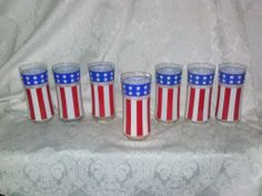 $27.99  Set of 7 Patriotic Red White Blue American US Flag Tumbler Glasses Candle Vase | eBay *!* GET PAID TO PIN *!* pincredibles.com/pin?id=158940&r=Tina4Music#sthash.taok8jQH.dpuf