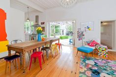 Living room colour explosion #bright #neon #colourburst #thehomeaus #dining
