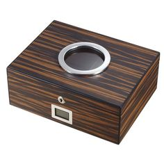 Visol PortHole Ebony Finish Cigar Humidor (Holds 75 Cigars)   Overstock.com Shopping - The Best Deals on Humidors Best Humidor, Cigar Humidor, Accessories Store, Food Gifts, Cigars, Wood Projects, Hold On, Good Things, Occult