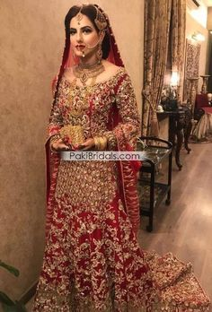 Paki Red Bridal Dress 707a #pakistanidress #pakistanifashion #pakistaniwedding #bridalLehenga #BridalSharara #BridalMaxi #bridalfashion #pakistanibride #pakistani #bridalwear #bridalparty #bridaldress #bridaldresses #bridalmakeup #bridal #bride #bridalhair #bridalgown Country Wedding Dresses, Bohemian Wedding Dresses, Princess Wedding Dresses, Modest Wedding Dresses, Boho Wedding, Dream Wedding, Dulhan Dress, Nikkah Dress, Asian Bridal Dresses