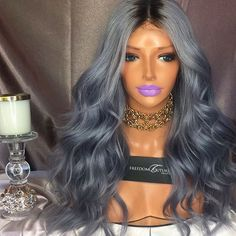 Deep Middle Part Bob Lace Front Wigs Grey Human Hair Wigs For Women Natural Baby Hair Pre-Plucked Natura Hair Line Real Hair Wigs, Short Hair Wigs, Frontal Hairstyles, Wig Hairstyles, Casual Hairstyles, Medium Hairstyles, Latest Hairstyles, Hairdos, Remy Human Hair