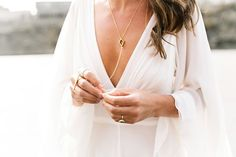 Peace Out, Flower Crowns — These Bridal Accessories Are MAJOR #refinery29  http://www.refinery29.com/bridal-wedding-accessories#slide-1  A low-cut dress loves a simple body chain — like the one worn by this bride at her San Francisco nuptials....