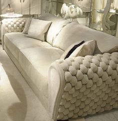 Sofas - WOVEN LEATHER SOFA ART GAR2400