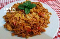 Tavuklu Ankara Tava (Diğer Pilavları Unutun) Tarifi Ankara, Dessert Recipes, Desserts, Yummy Recipes, Food And Drink, Cooking Recipes, Yummy Food, Chicken, Ethnic Recipes