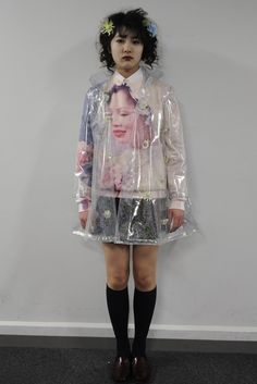 Jenny Fax RTW Fall 2012. LOVE THIS. Glittery clear rain coat... oh how I would love one!
