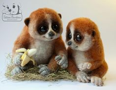 Фото: Очень милые игрушки из шерсти от Бараковой Татьяны (Фото)