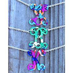 Floating Single Letter Necklace – Francesca Joy $29.99 #SouthernFriedChics
