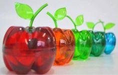 Pet Şişe ile Elma Görünümlü Kutu Tasarımı