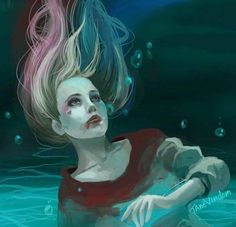 """Harley Quinn is all I can say.. Well.. How about,""""Harley Quinn Under Sea Digital Art"""" perfect!"""
