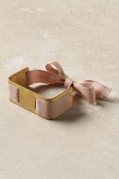 Tie-around bracelet | gold + pink