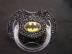 "Batman superhero ""blinky,"" better known as a binky or pacifier.if only Gavin took a pacifier. Baby Boys, Our Baby, Baby Batman, Batman Baby Stuff, Batman Nursery, Batman Superhero, Superman, Babyshower, Binky"