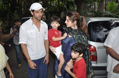 Hrithik Roshan With his Family