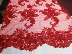 European design super beaded flower mesh lace by KINGDOMOFFABRICS