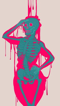 Slime Girl by Andernell Art Sketches, Art Drawings, Arte Grunge, Tableau Pop Art, Wallpaper Animes, Trippy Painting, Skeleton Art, Photo Wall Collage, Weird Art
