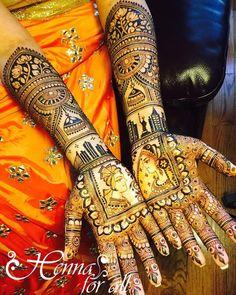 Trending mehndi designs for brides Bridal henna inspiration Bride and groom portraits Personalized mehendi designs New York and Detroit skyline motifs Jhumka motifs Henna tattoos Indian brides Credits: Henna For All Every Indian bride's Mehandi Designs Images, Mehndi Design Pictures, Mehndi Art Designs, Mehndi Images, Latest Mehndi Designs, Dulhan Mehndi Designs, New Bridal Mehndi Designs, Henna Mehndi, Henna Tattoos