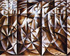 Velocity of Cars and Light by Giacomo Balla
