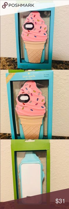 Kate Spade iPhone 7 ice cream cone case NIB Brand new Kate Spade iPhone 7 ice cream cone phone case. Comes from a pet free and smoke free environment kate spade Accessories Phone Cases