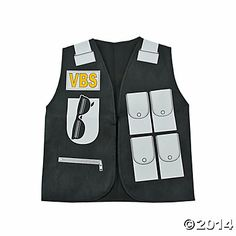 Special Agent Vest, Costume Props & Kits, Costume Accessories, Costumes, Accessories & Jewelry, Party Supplies - Oriental Trading