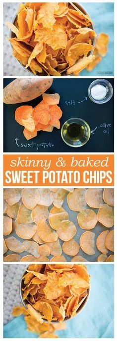 Skinny Baked Sweet Potato Chips- Your new favorite snack!