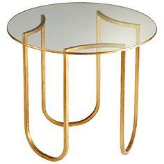 Cyan Design Vincente Side Table in Gold Leaf Metal Side Table, Modern Side Table, Side Tables, Wall Tables, Cofee Tables, Metal Furniture, Table Furniture, Furniture Design, Luxury Furniture