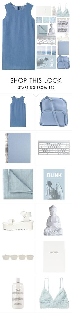 """""""COULD GIVE THOUSAND REASONS"""" by trnslucid ❤ liked on Polyvore featuring MANGO, Jil Sander Navy, JCPenney Home, Blink, Steve Madden, Takayaka, Topshop, philosophy and Monki"""