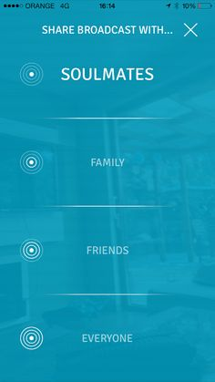 On TVibes you can easily choose your audience even before you shoot a video!