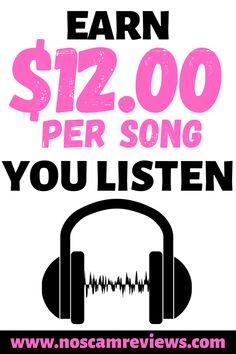 Earn Money Listening To Music! Earn Money Listening To Music! Make Money Fast Online, Online Jobs From Home, Ways To Earn Money, Earn Money From Home, Make Money Blogging, Way To Make Money, Money Tips, Earning Money, Online Earning