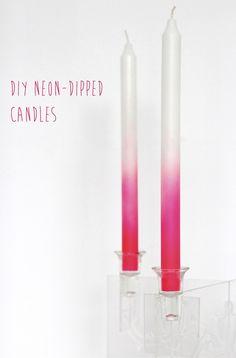 DIY neon candles