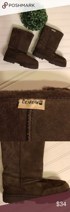 Kids BearPaw Boots Kids BearPaw Brown Boots  size Y3. EUC. BearPaw Shoes Boots