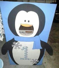 Penguin party ideas photo prop