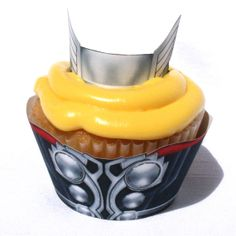 Thor - Inspired Cupcake Wrapper (Instant Download)