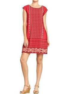 Womens Mixed-Print Crepe Shift Dresses from Old Navy  Old Navy: 20% off All Adult Styles - Online Only http://blru.me/3s2c