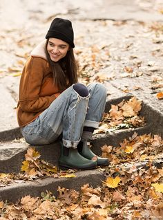 It's Cold! New York City, Central Park, boots, winter coats, vests, layers, fall leaves / Garance Doré