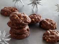 Triple Chocolate Cookies recipe from Bobby Flay via Food Network