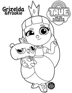 PRINCESS GRIZELDA AND FROOKIE FROM TRUE THE RAINBOW KINGDOM Learn Colors While Coloring Characters From True And The Rainbow Kingdom