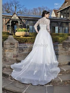 Wholesale Removable Train Sweetheart Beaded Lace Pleated Sash 2013 Plus Size Wedding Dresses 3/4 Sleeve Jacket, Free shipping, $126.56-148.96/Piece | DHgate#s1-4-1
