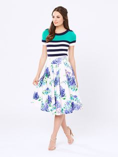 Review Australia || Love the mix match in this - stripes with floral ||