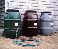 water rain barrel for collecting water at home