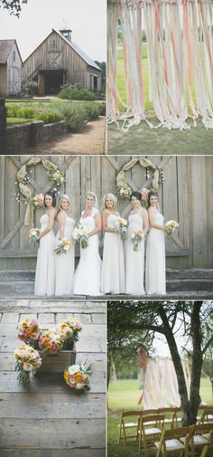 Bouquets in wooden crates