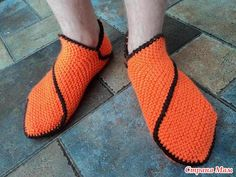 knitted slippers tutorial - lots of photos step by step easy to follow