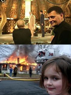 If you don't get this, you're not a real Doctor Who fan. Or youve just never seen the meme on the bottom. If not, you should.