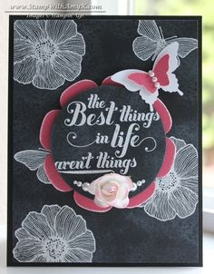 Feel Goods with Summer Solstice on a Chalkboard | Stamp With Amy K