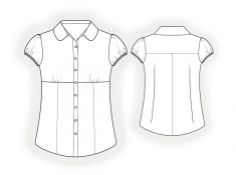 Blouse - Sewing Pattern #4059 - $2.49 (Enter your measurements for a custom-size pattern!)