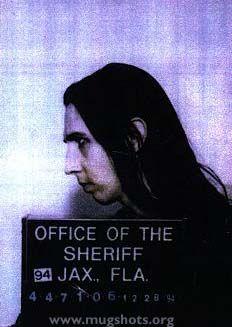 Marilyn Manson Mugshot