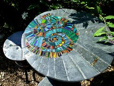 Ammonite garden/patio set by Helen Nock, via Flickr