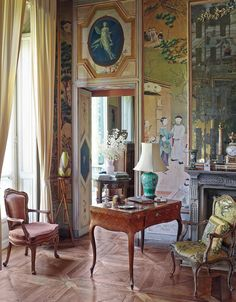 Not far from the Po River in Piedmont, the VILLA D'AGLIE, TURIN ; it is one of the rare houses around Turin that has remained almost untouched from the beginning of the 18th century until the present day.