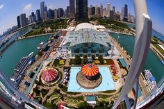 Navy Pier from the top of the Ferris Wheel