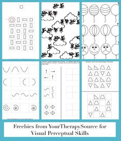visual perceptual patterns freebie from http://www.yourtherapysource.com/patterns.html
